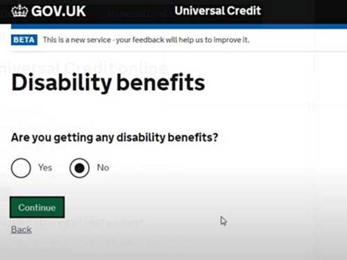 disability benefits to apply for universal credit